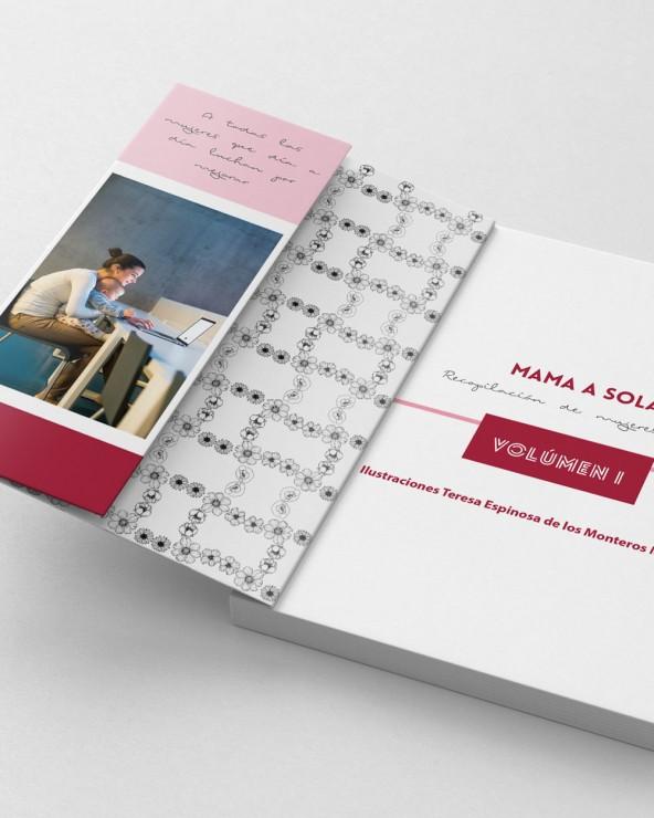 Diseño rosa - A5 lomo de 35mm tapa blanda con solapas