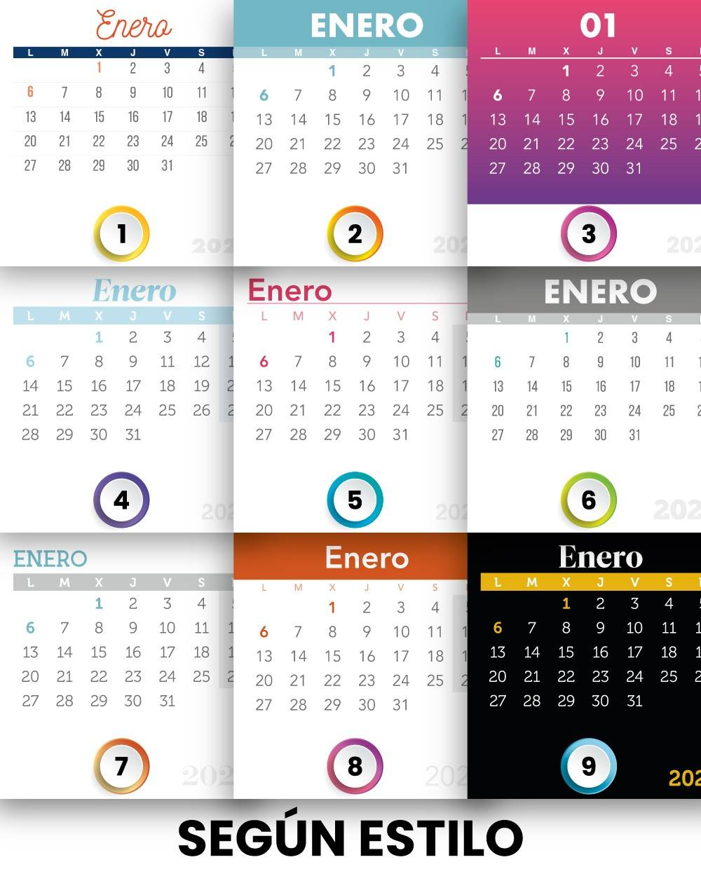 Calendarios de pared originales