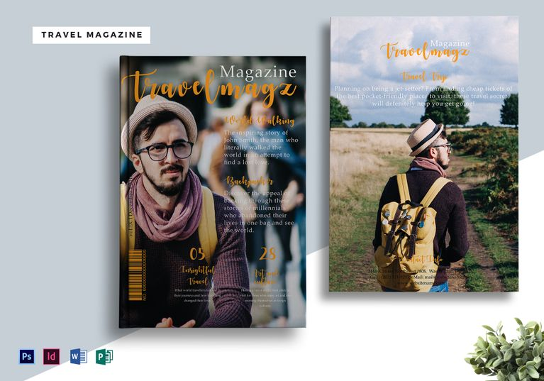 Editable Travel Magazine Template