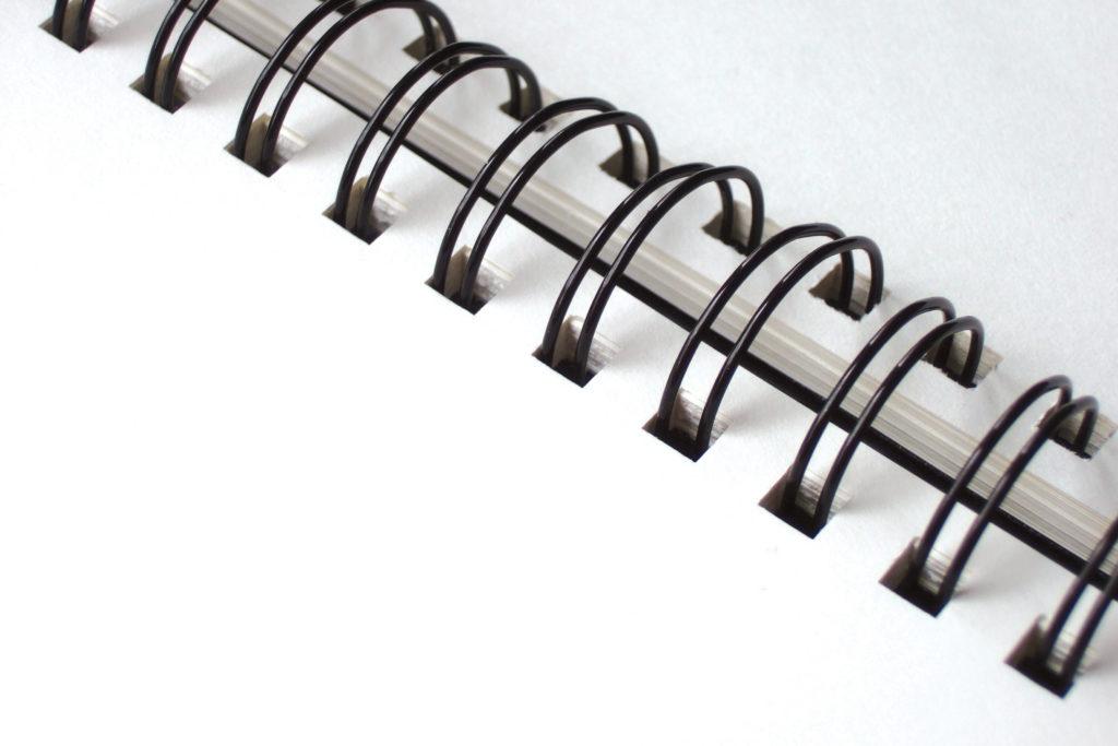 Encuadernación wire-o al detalle