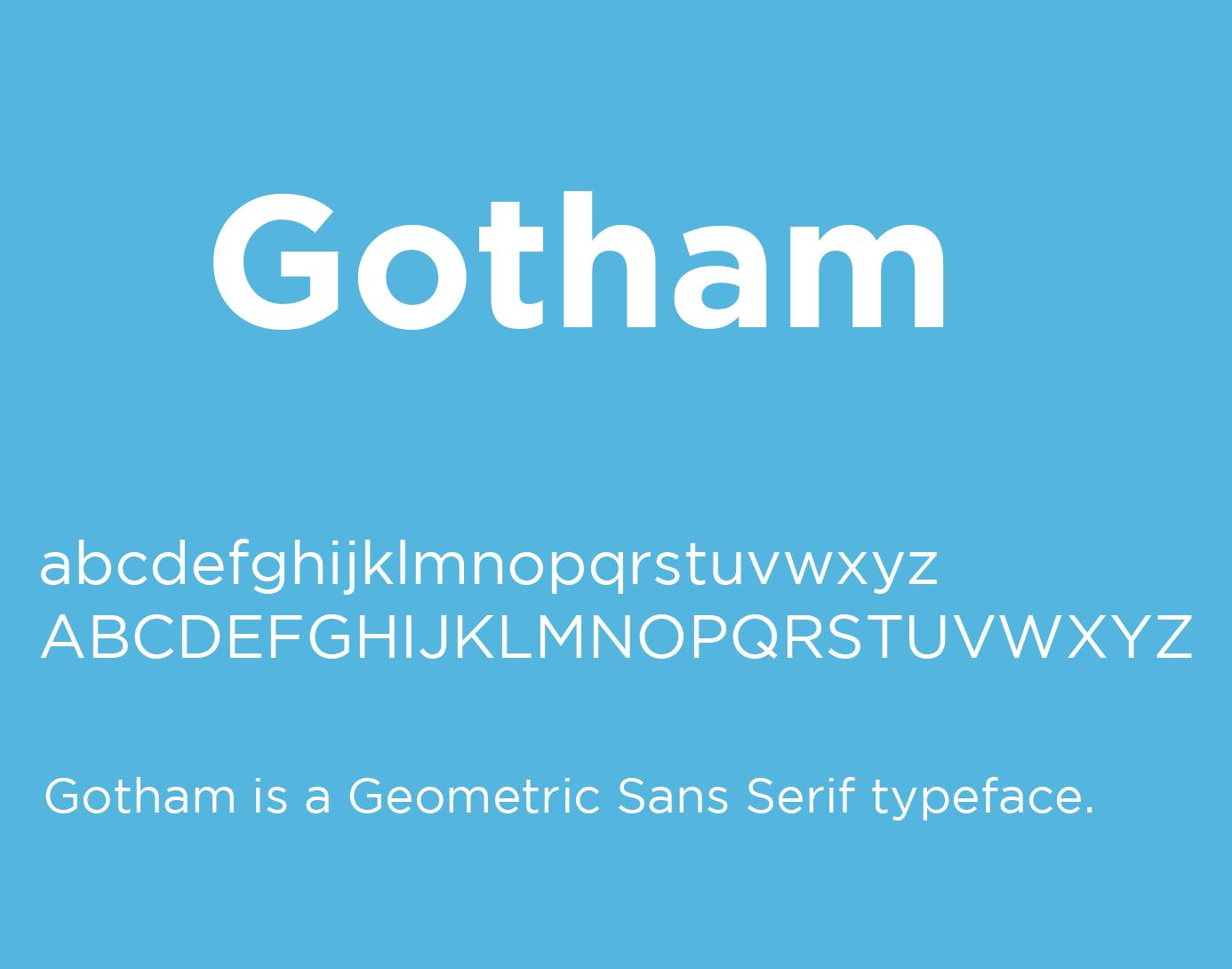 tipografía gotham