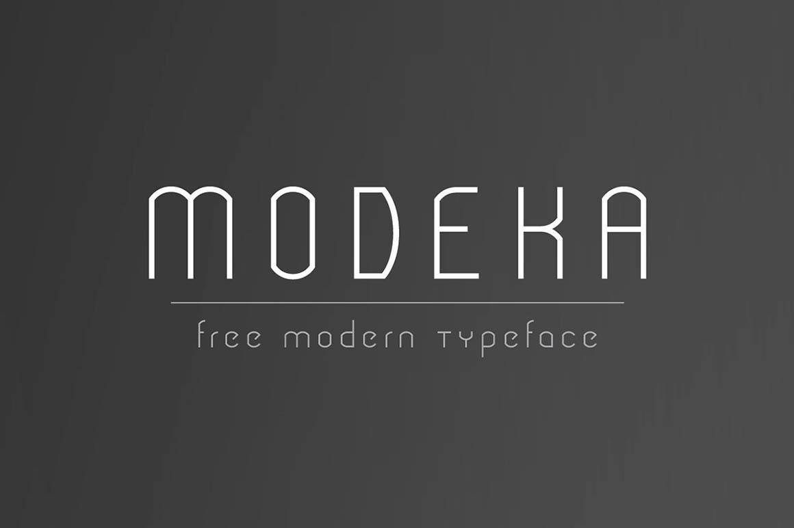 tipografía modeka